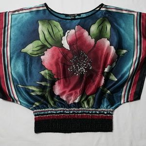 Forever 21 Satin Floral Blouse